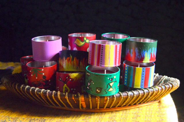 Hand Painted Candles: Price/Unit: INR 150 – INR 260