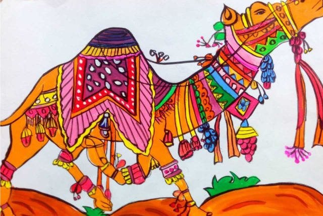 Madhubani/Warli/Traditional Greeting Cards from Children's Artworks: Price/Unit: INR 25+